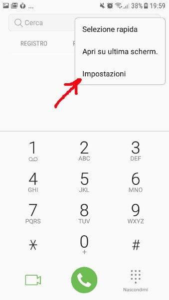 Bloccare chiamate private android impostazioni