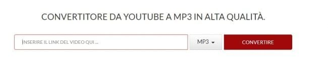 Convertitore da Youtube a MP3 in alta qualità