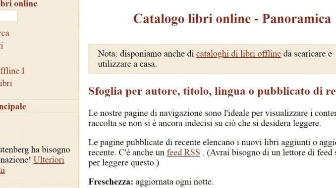 Come scaricare ebook gratis su Gutemberg