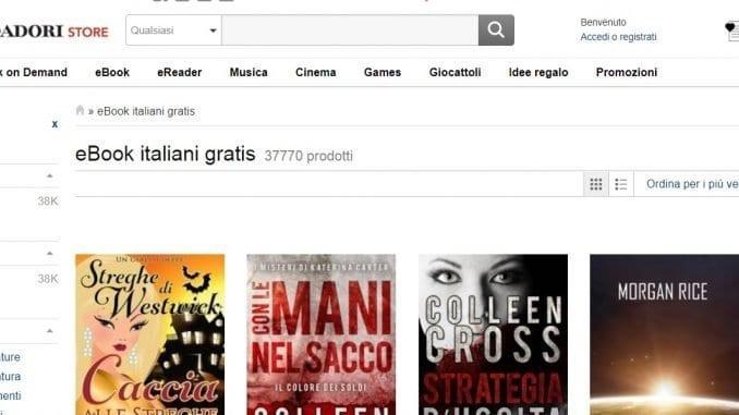Scaricare ebook da Mondadori Store