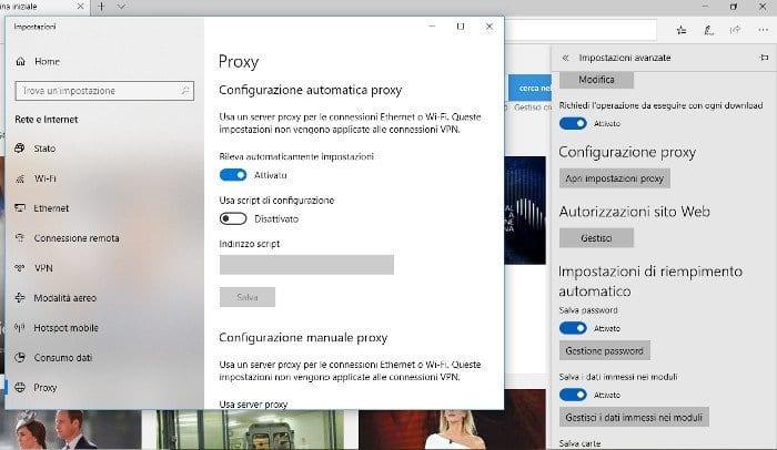 Configurare Proxy Microsoft Edge