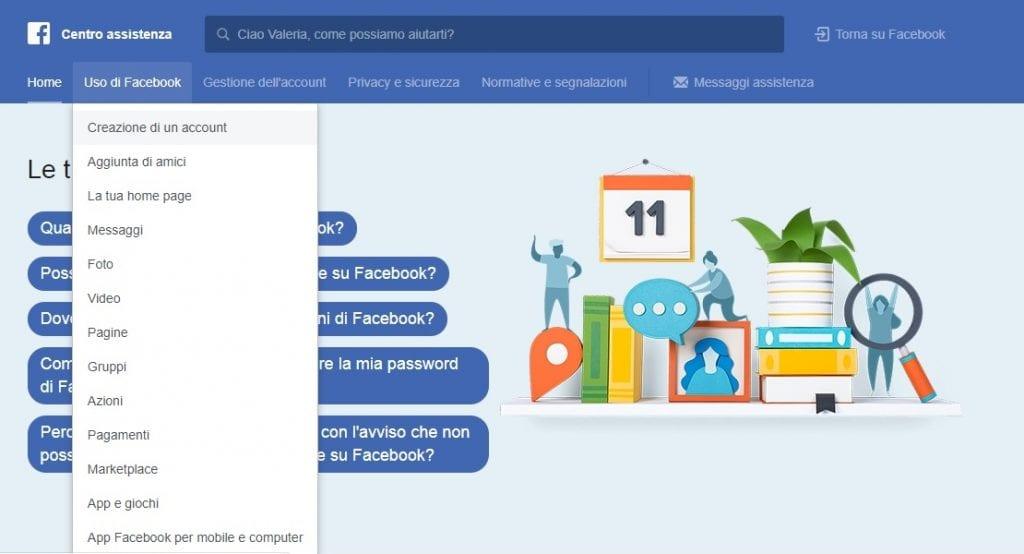 Creare un nuovo account Facebook