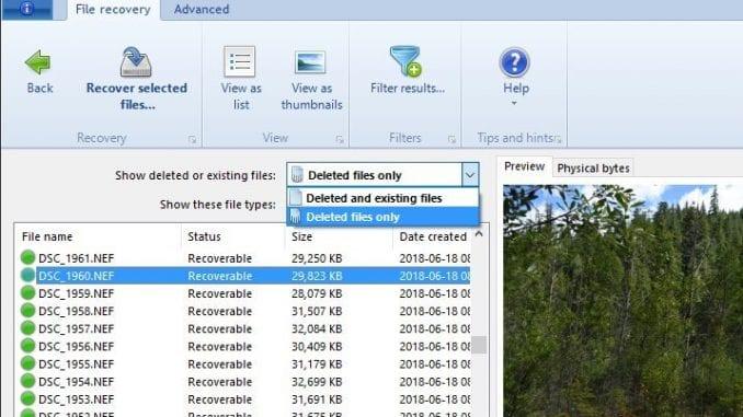 Recupero dati Hard Disk con DiskDigger