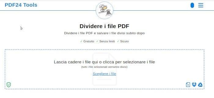 Dividere con PDF24