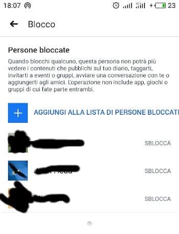 sblocca utenti facebook