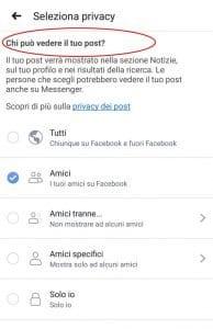 Come nascondere post su Facebook