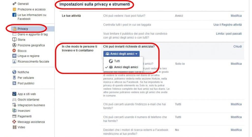 Come bloccare e disattivare le richieste di amicizia su Facebook
