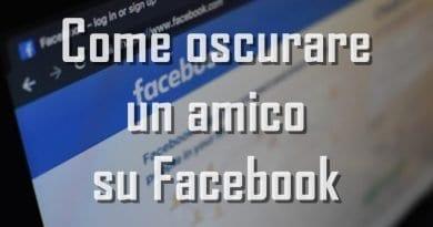 Come oscurare un amico su Facebook
