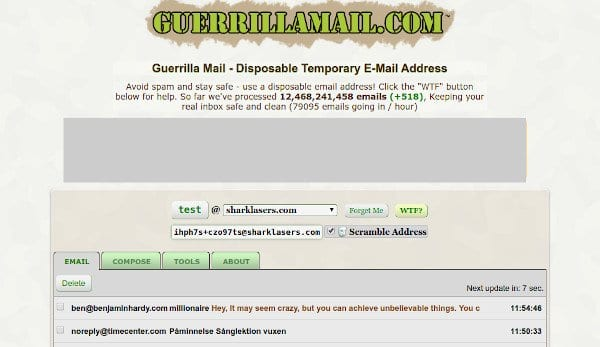 Guerrilla Mail – Indirizzo E-Mail Temporaneo