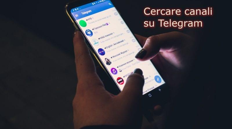 Come cercare canali Telegram