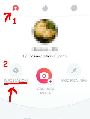 Impostazioni profilo